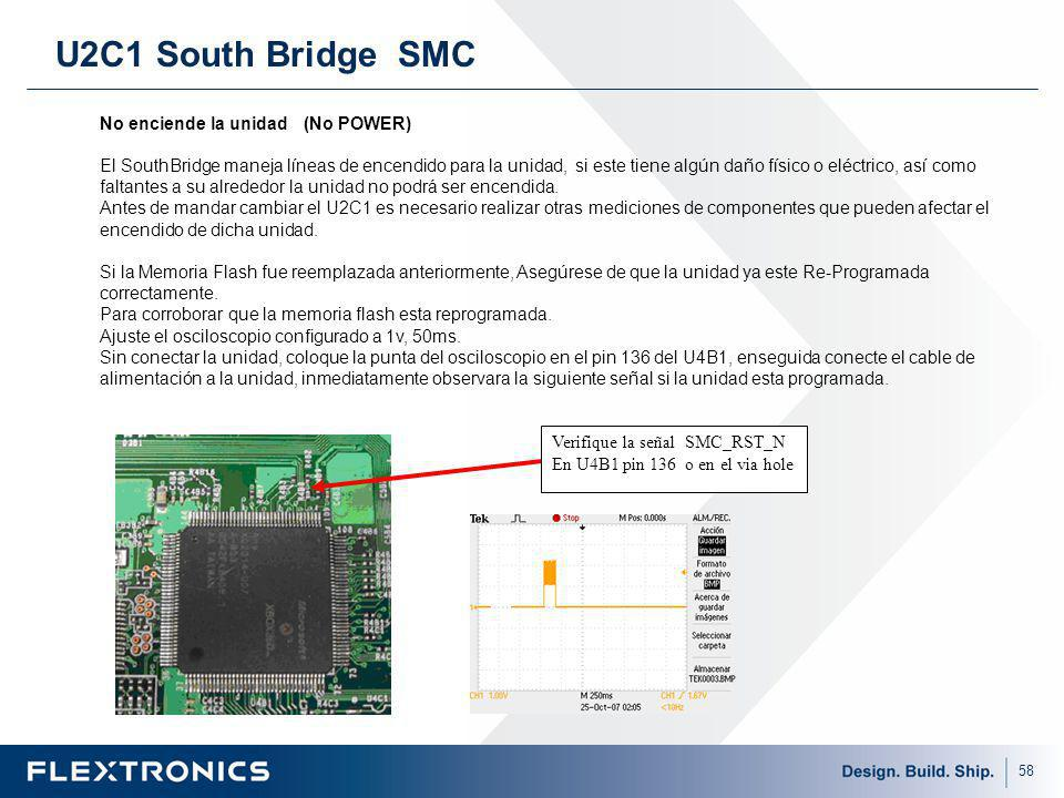 U2C1 South Bridge SMC No enciende la unidad (No POWER)