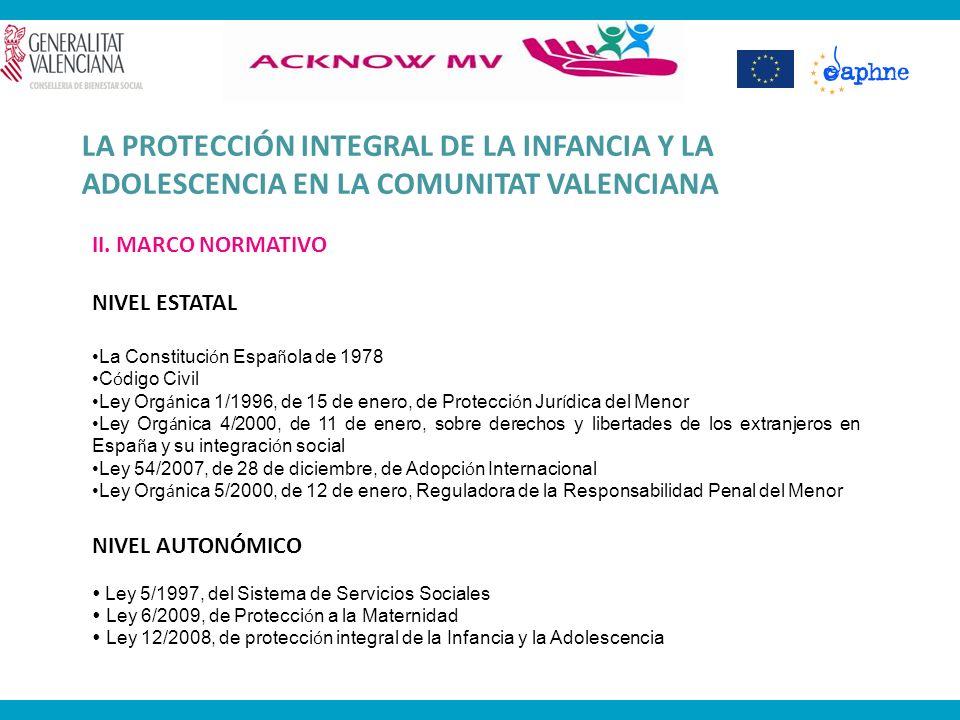 LA PROTECCIÓN INTEGRAL DE LA INFANCIA Y LA ADOLESCENCIA EN LA COMUNITAT VALENCIANA