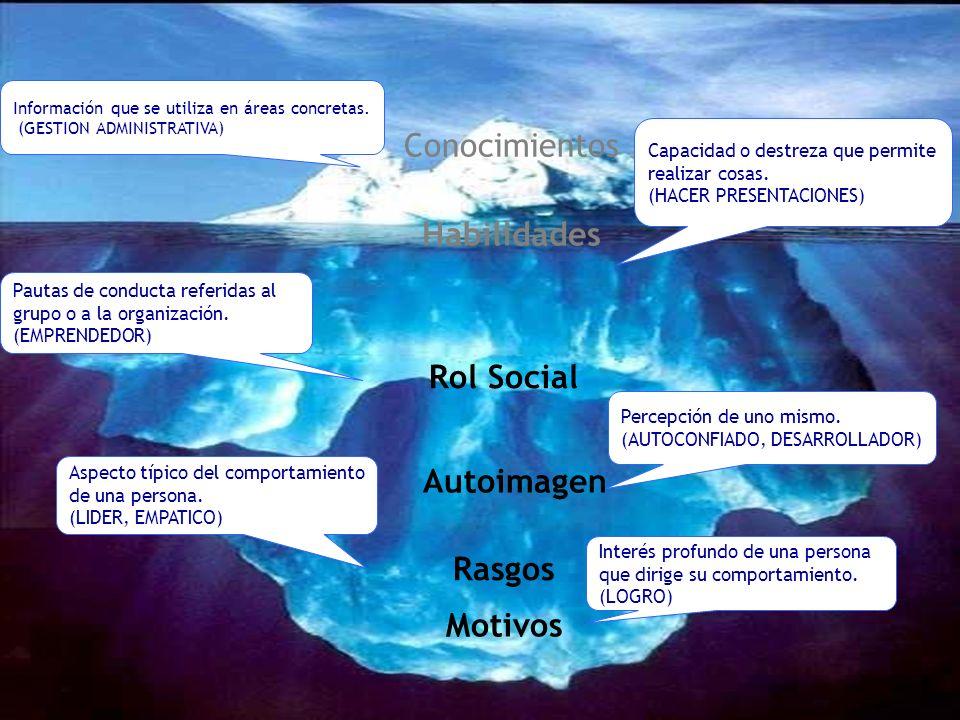 Habilidades Rol Social Autoimagen Rasgos Motivos