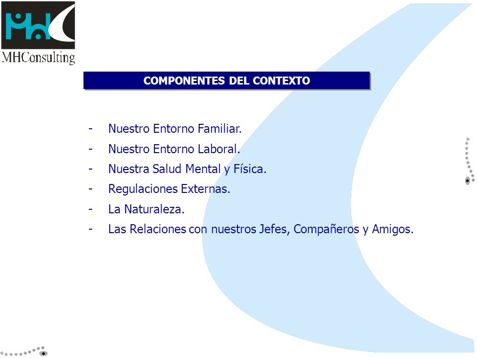 COMPONENTES DEL CONTEXTO