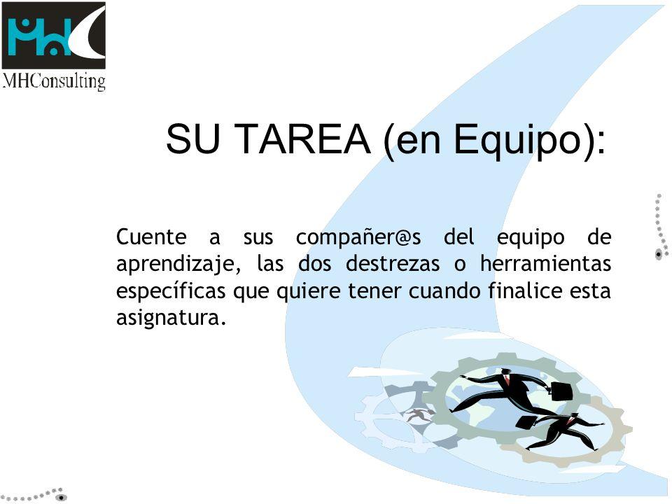 SU TAREA (en Equipo):