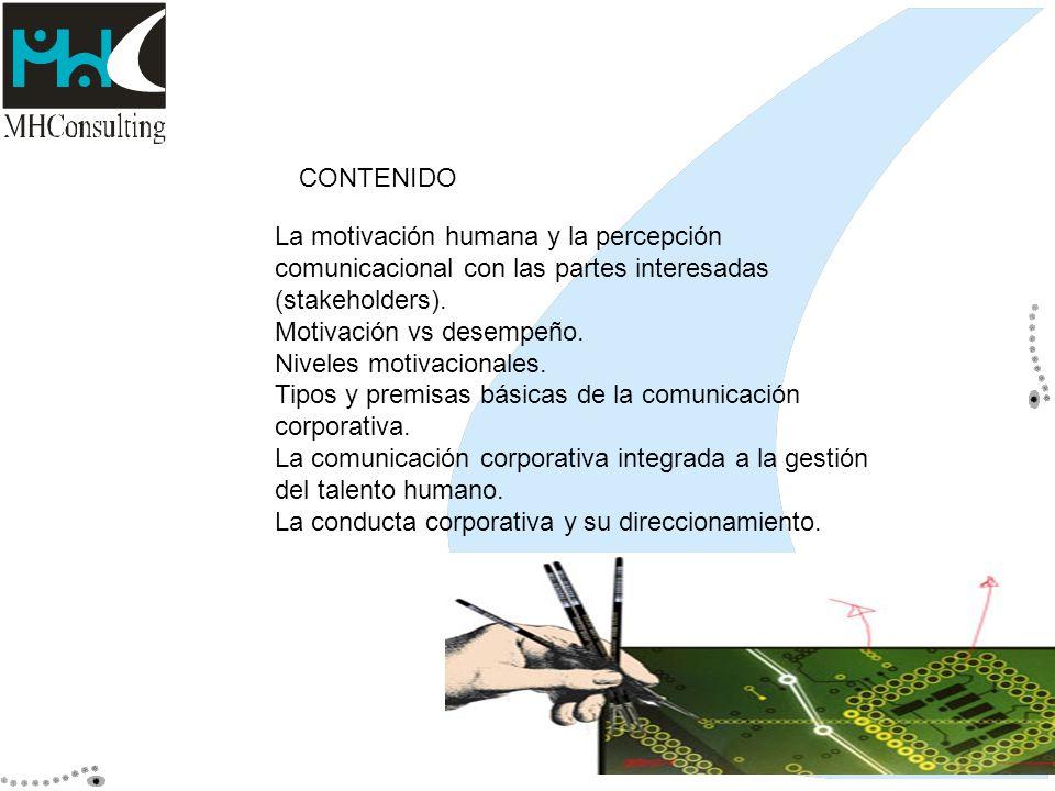 CONTENIDO La motivación humana y la percepción comunicacional con las partes interesadas (stakeholders).