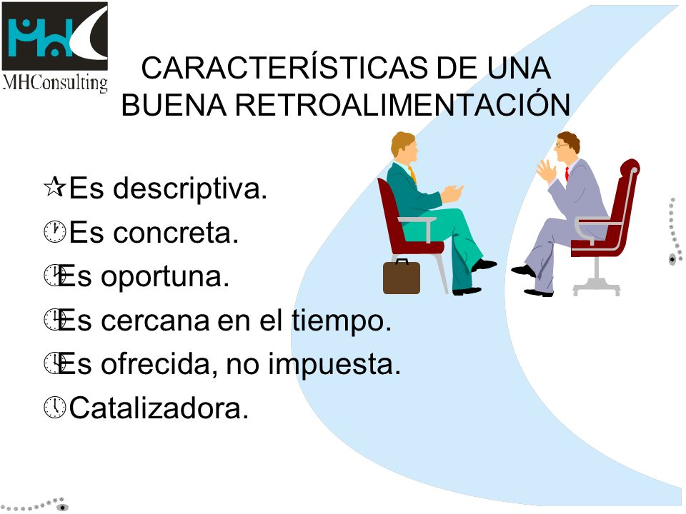 CARACTERÍSTICAS DE UNA BUENA RETROALIMENTACIÓN