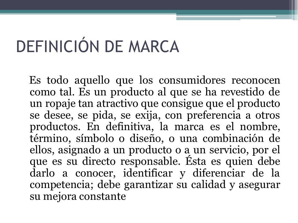 DEFINICIÓN DE MARCA