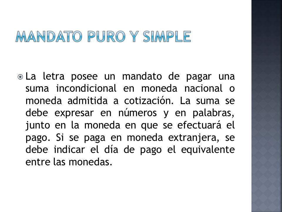 Mandato puro y simple