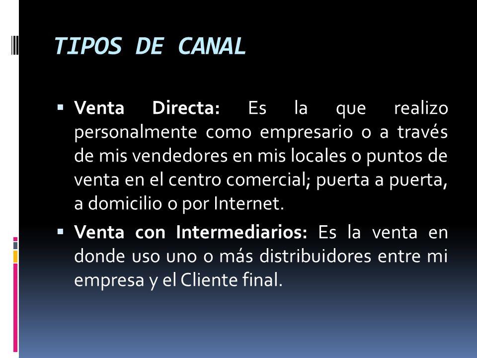 TIPOS DE CANAL