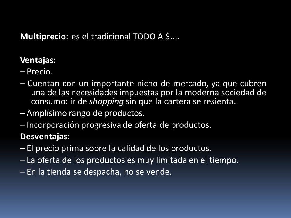 Multiprecio: es el tradicional TODO A $....