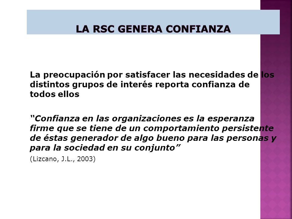 La RSC genera Confianza