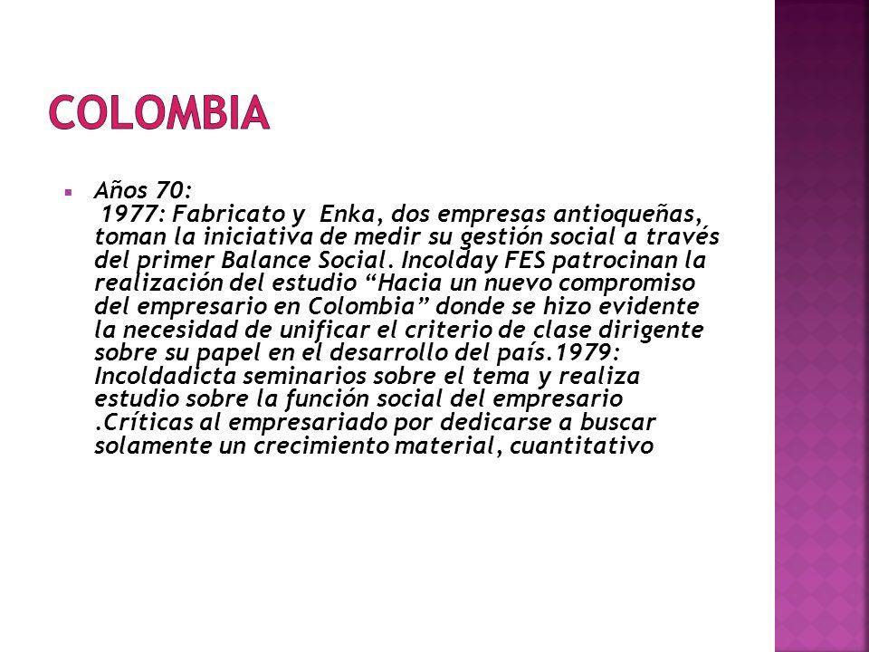 COLOMBIA Años 70: