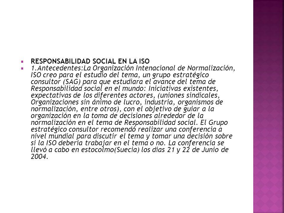RESPONSABILIDAD SOCIAL EN LA ISO