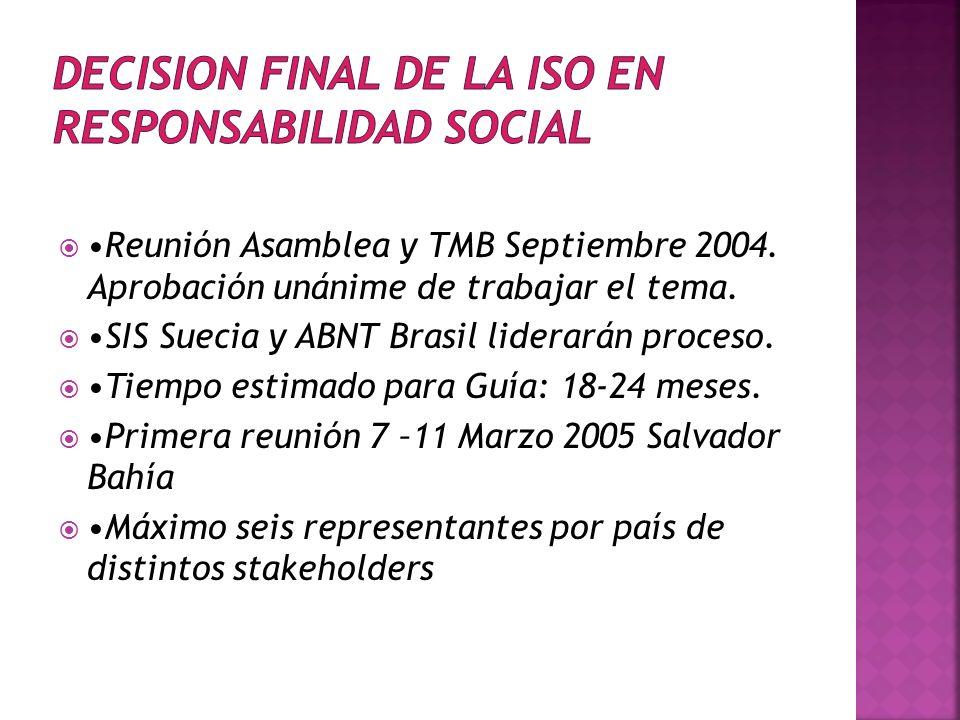 DECISION FINAL DE LA ISO EN RESPONSABILIDAD SOCIAL