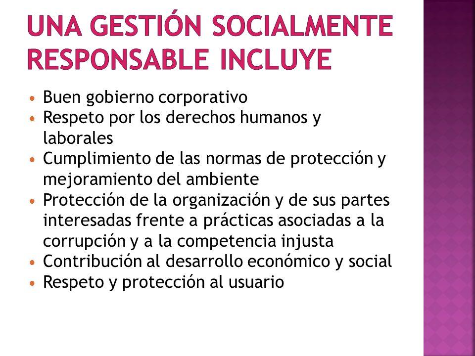Una gestión socialmente responsable incluye