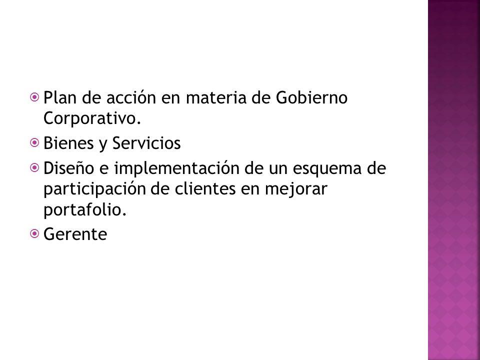 Plan de acción en materia de Gobierno Corporativo.