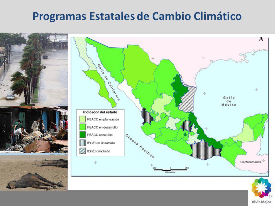 Programas Estatales de Cambio Climático