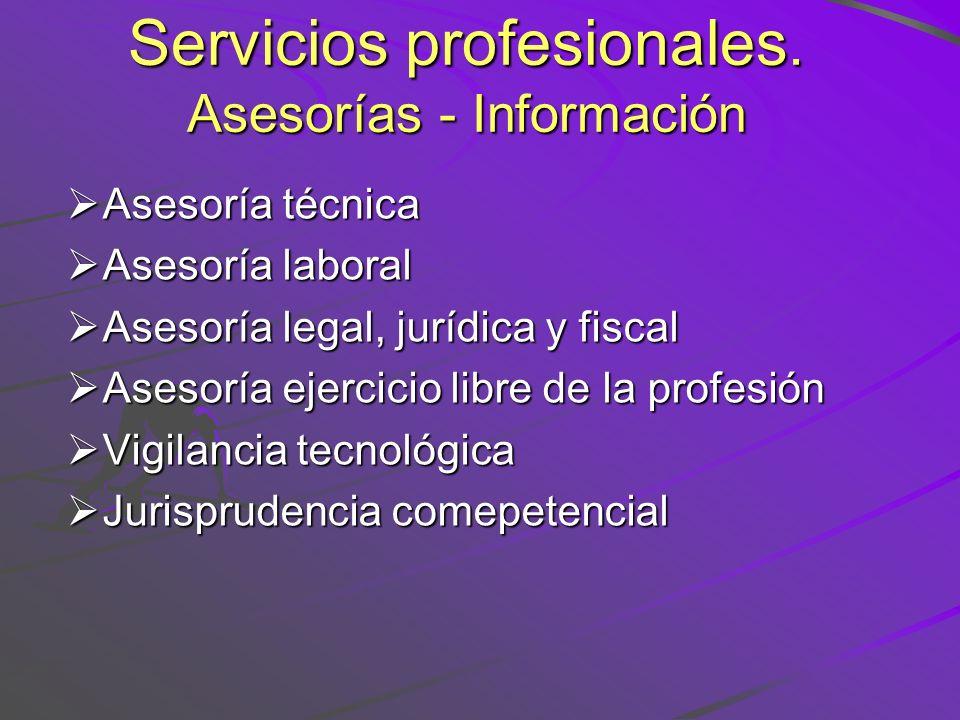 Servicios profesionales. Asesorías - Información