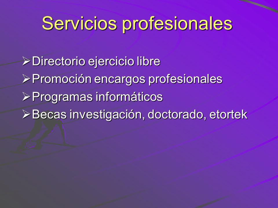 Servicios profesionales