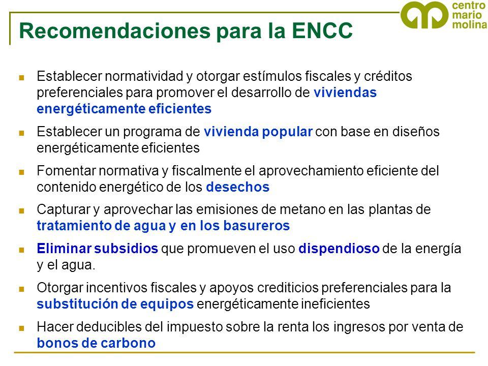 Recomendaciones para la ENCC