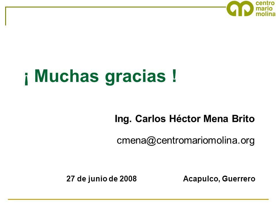 ¡ Muchas gracias ! Ing. Carlos Héctor Mena Brito