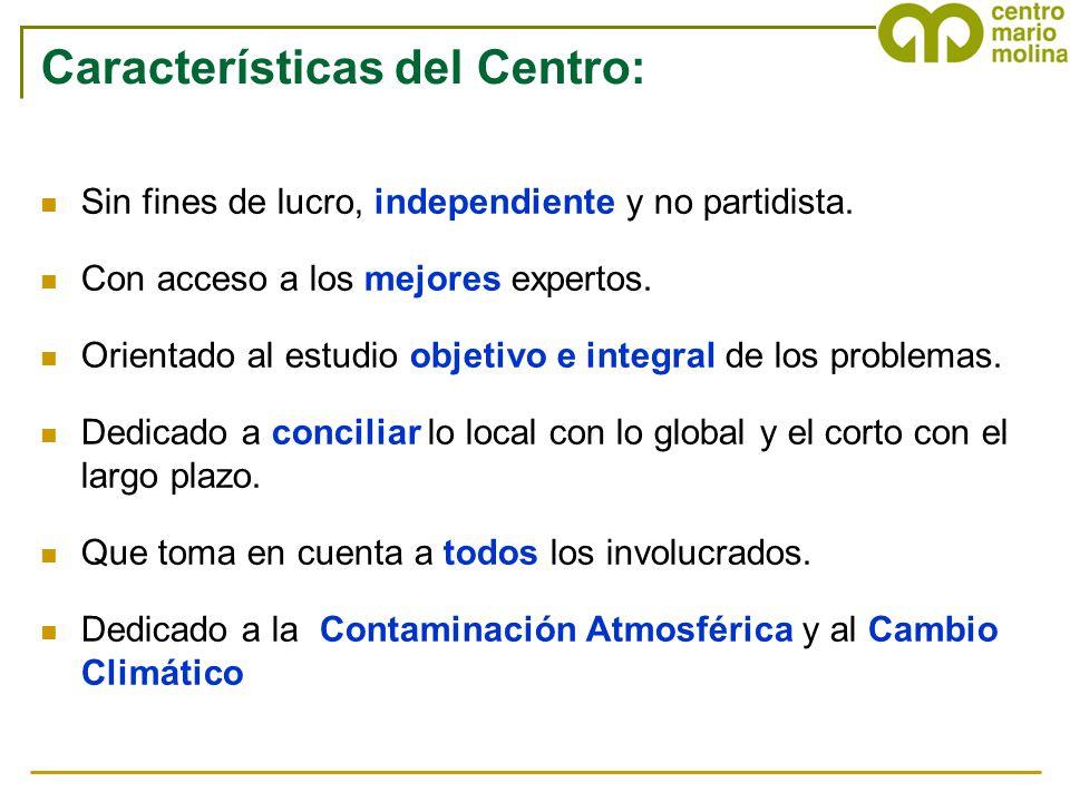 Características del Centro: