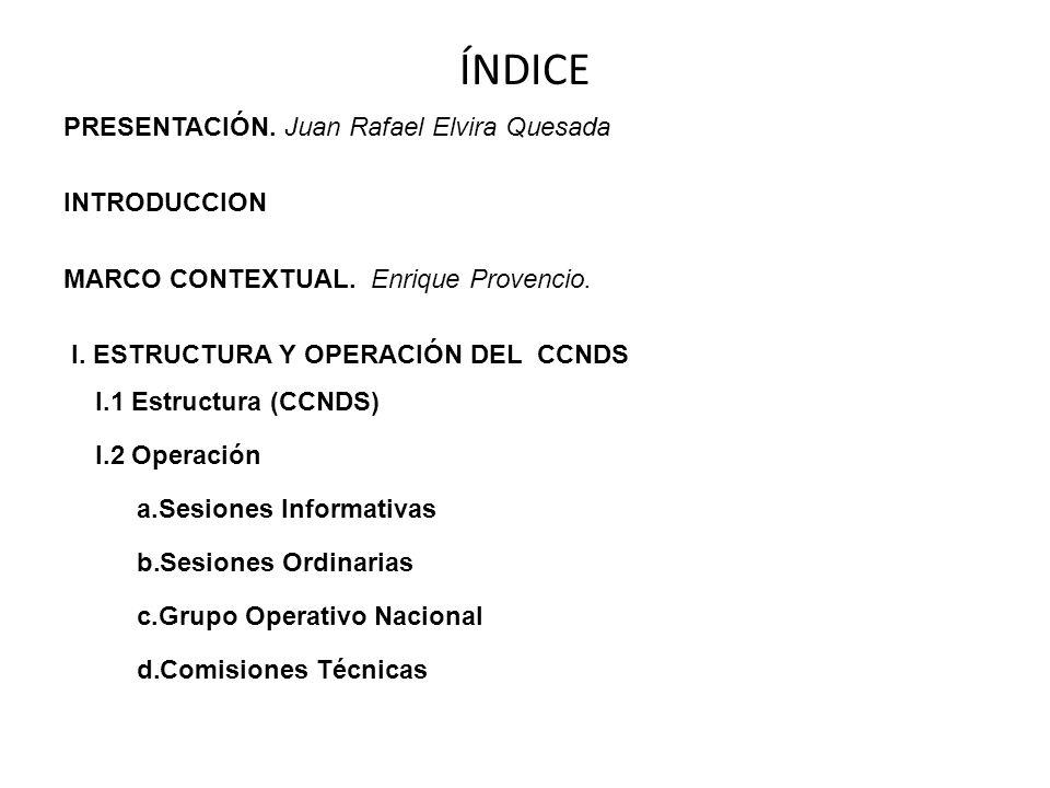 ÍNDICE PRESENTACIÓN. Juan Rafael Elvira Quesada INTRODUCCION