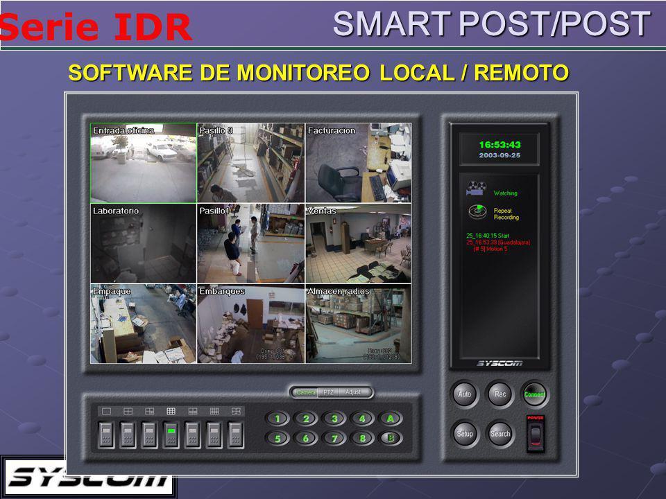 SMART POST/POST SOFTWARE DE MONITOREO LOCAL / REMOTO