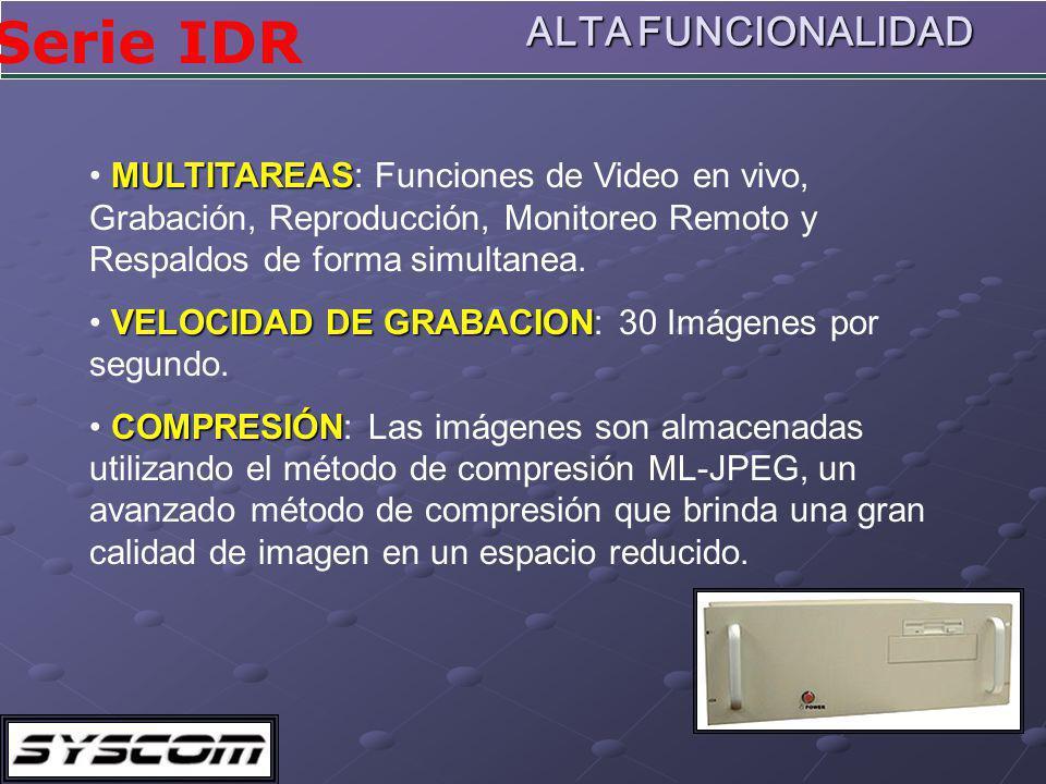 ALTA FUNCIONALIDAD MULTITAREAS: Funciones de Video en vivo, Grabación, Reproducción, Monitoreo Remoto y Respaldos de forma simultanea.