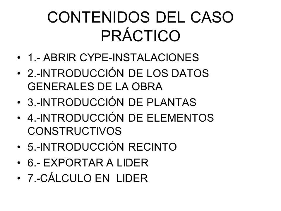 CONTENIDOS DEL CASO PRÁCTICO