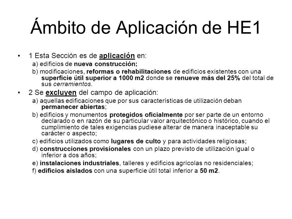 Ámbito de Aplicación de HE1