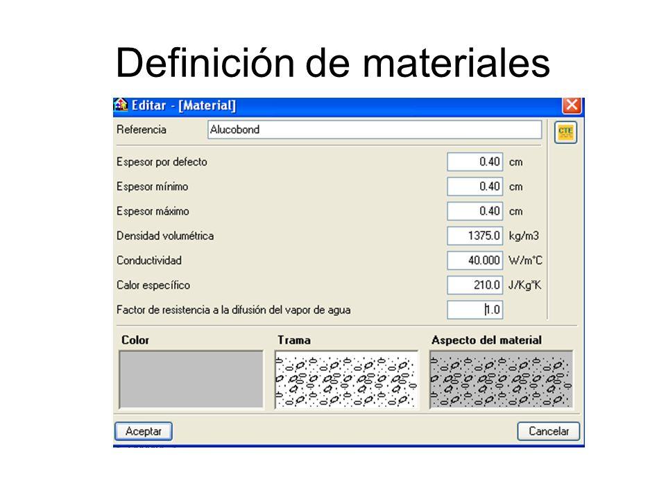 Definición de materiales