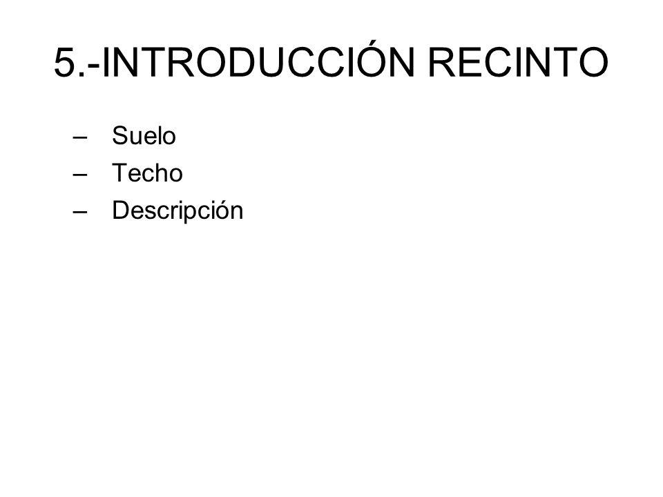 5.-INTRODUCCIÓN RECINTO
