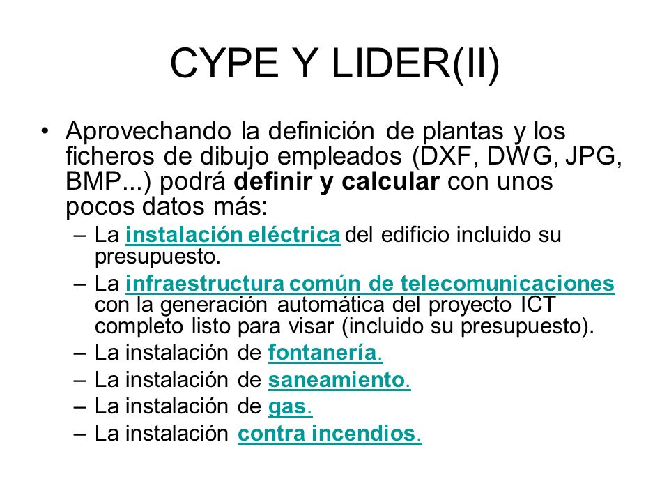 CYPE Y LIDER(II)