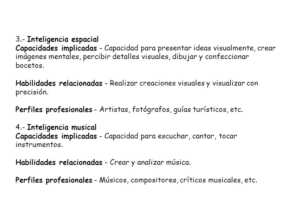 3.- Inteligencia espacial