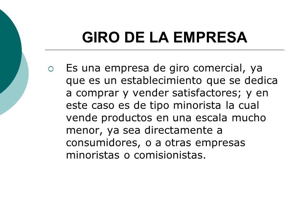 GIRO DE LA EMPRESA