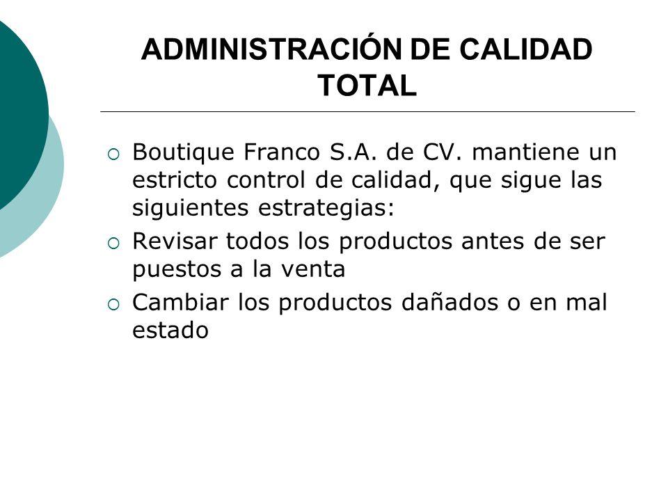 ADMINISTRACIÓN DE CALIDAD TOTAL