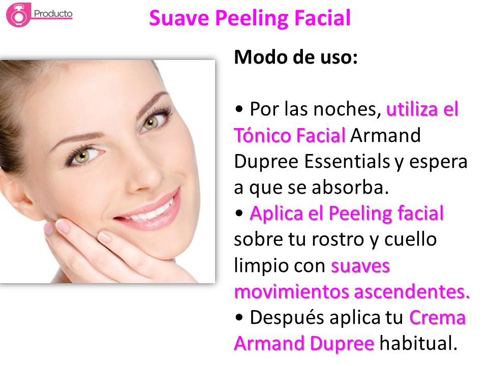 Suave Peeling Facial Modo de uso: