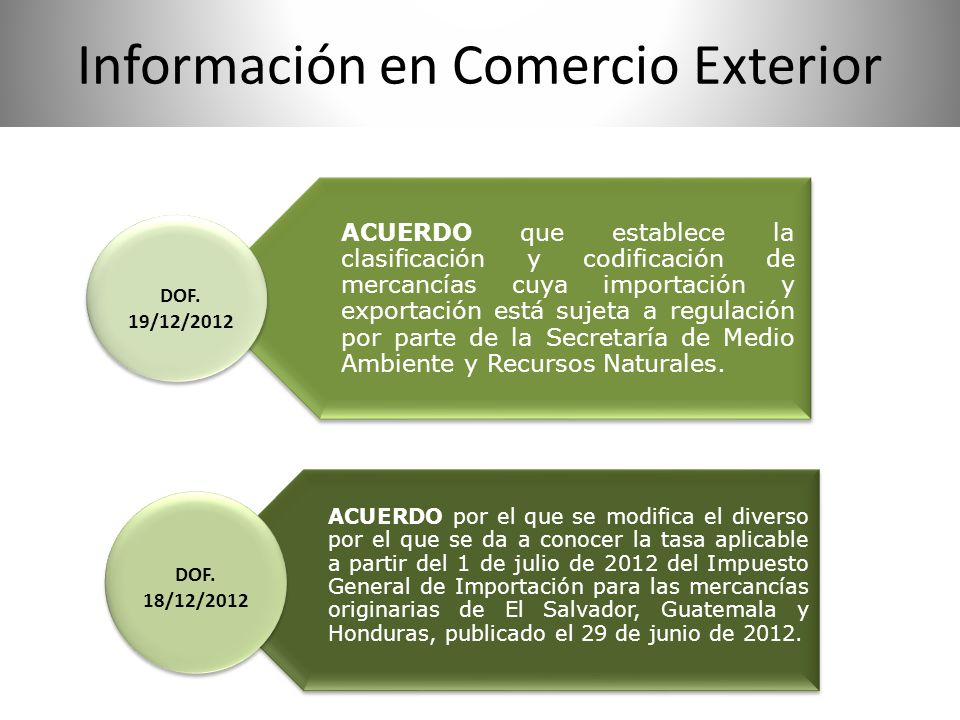 Información en Comercio Exterior