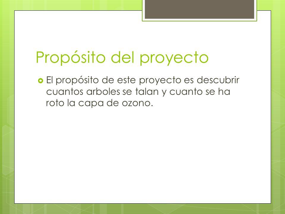 Propósito del proyecto