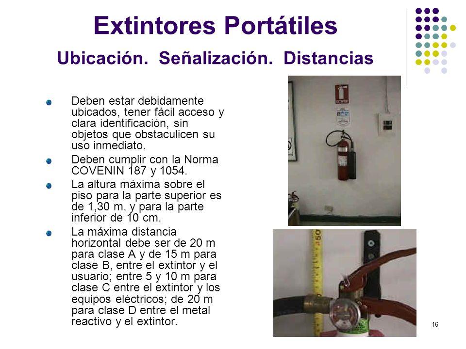 Extintores Portátiles Ubicación. Señalización. Distancias