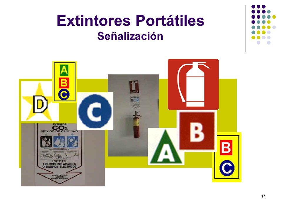 Extintores Portátiles Señalización