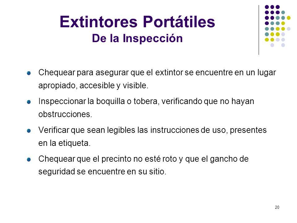 Extintores Portátiles De la Inspección