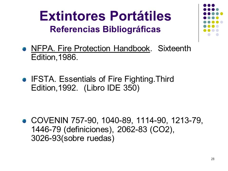 Extintores Portátiles Referencias Bibliográficas