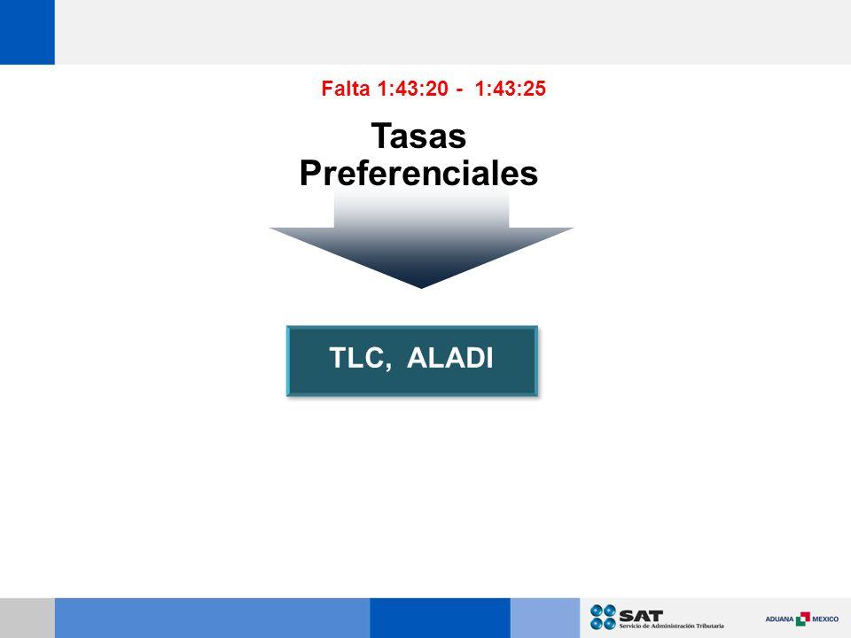 Falta 1:43:20 - 1:43:25 Tasas Preferenciales TLC, ALADI