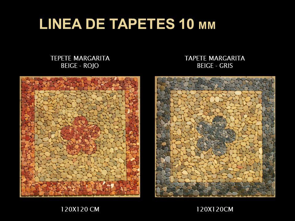 LINEA DE TAPETES 10 MM TEPETE Margarita BEIGE - ROJO