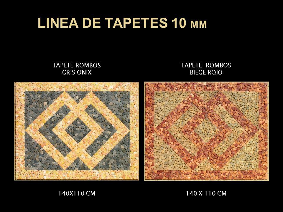 LINEA DE TAPETES 10 MM TAPETE ROMBOS GRIS-ONIX