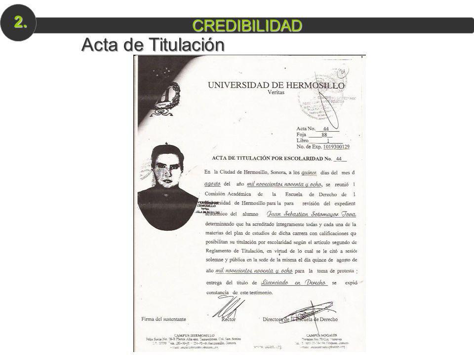 2. CREDIBILIDAD Acta de Titulación