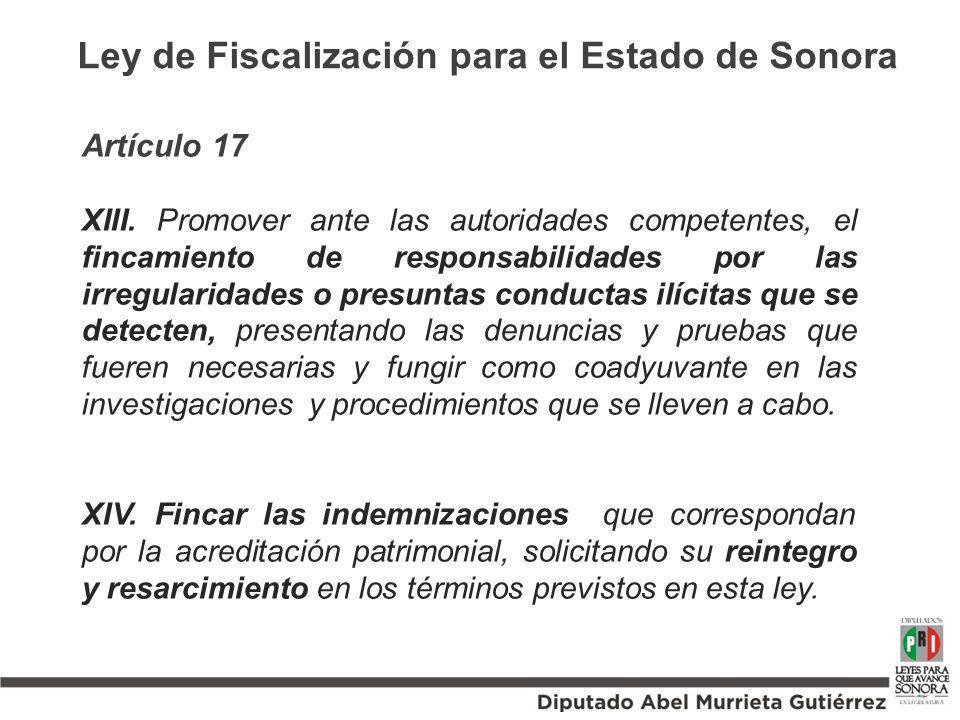 Ley de Fiscalización para el Estado de Sonora