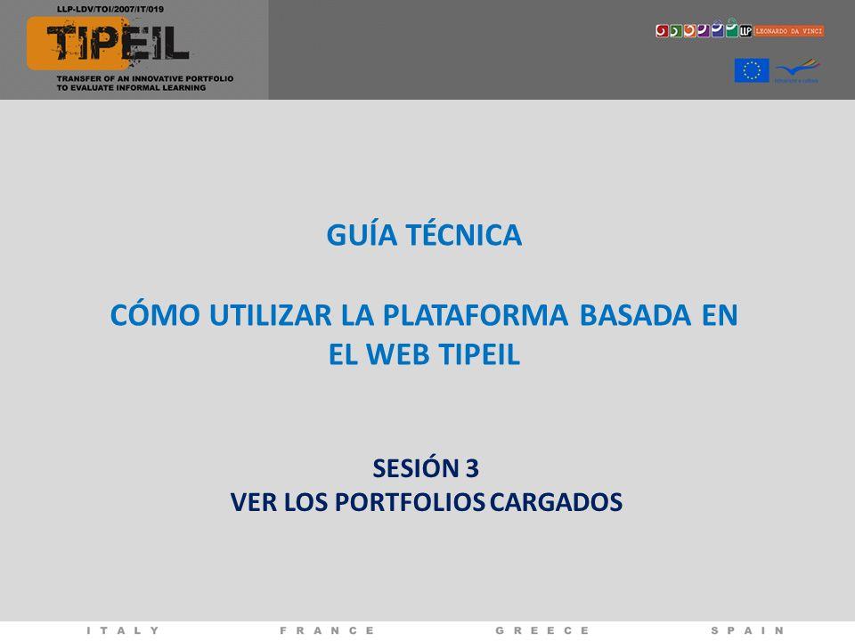 CÓMO UTILIZAR LA PLATAFORMA BASADA EN EL WEB TIPEIL