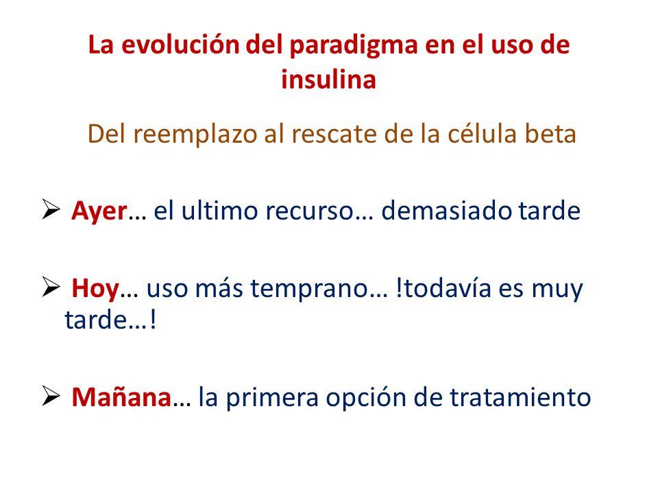La evolución del paradigma en el uso de insulina
