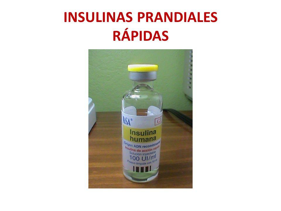 INSULINAS PRANDIALES RÁPIDAS