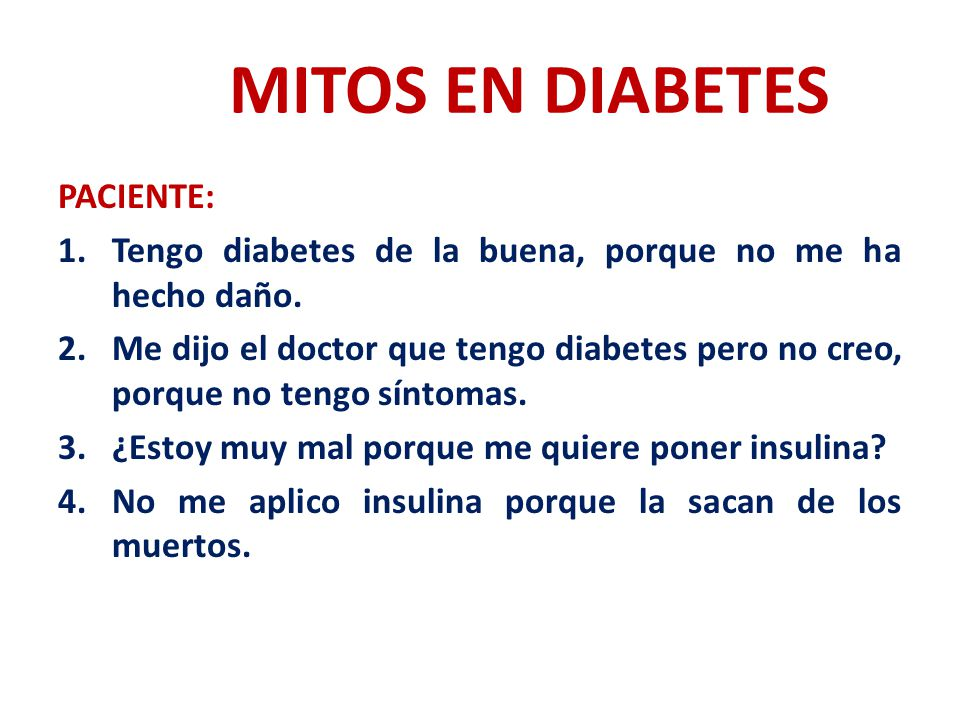 MITOS EN DIABETES PACIENTE: